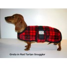 Foggy Mountain Snuggler Lang ryg Red tartan