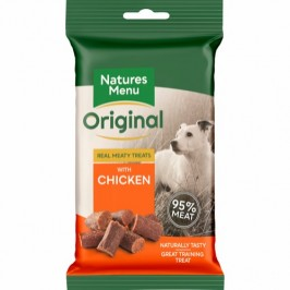 Natures Menu Real Meaty - Chicken Treats  85g. - Produceret i England