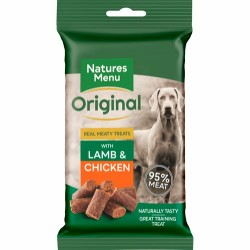 Natures Menu Real Meaty - Lamb & Chicken treats 85g - Produceret i England