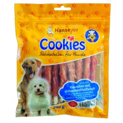 Cookie's Snacks Twisted sticks af oksehud med kylling - produceret i Tyskland