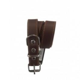 Soft læderhalsbånd brun - TILBUD