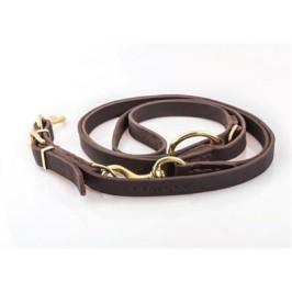 Timely læder dressurline  220cm. lang - 2 cm. bred