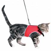Kattesele med elastisk line